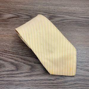 Hugo Boss White w/ Gold Stripe Silk Tie